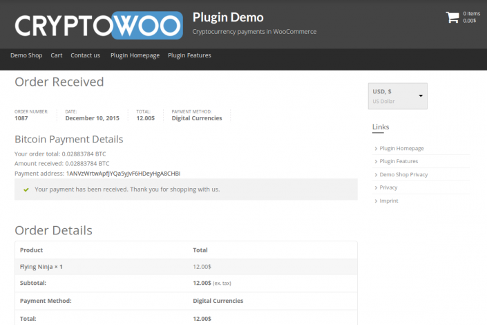 CryptoWoo Thank You Page