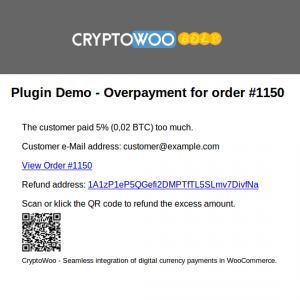 Overpayment Admin e-Mail