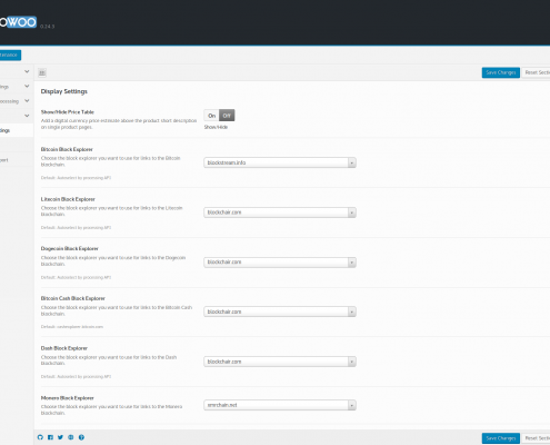 CryptoWoo 0.24.3 - New Block Explorers