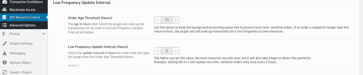 Use this option to keep the background processing queue free to process more time-sensitive orders.