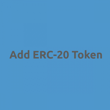 Add ERC-20 Token